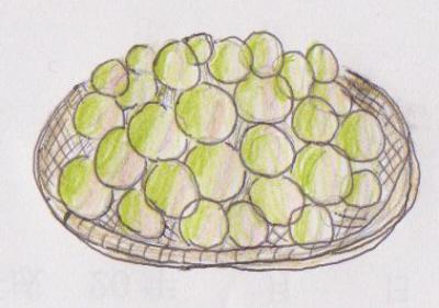 熟した梅で漬けます。宅配の場合、今にも落下しそうな梅はいた傷みが出ますので、黄色いから橙色になるまで、室内で追熟するのも一つの方法です。